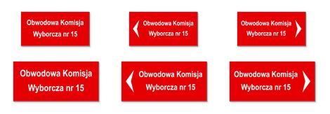 """Tabliczki informacyjne """"Obwodowa Komisja Wyborcza"""""""