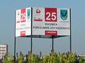 25 lat Porozumień Jastrzębskich - Tablica informacyjna, rondo Centralne