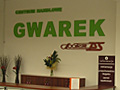DH Gwarek - Jastrzębie, napis ze styroduru