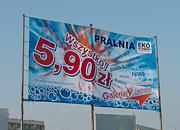 """Kampania promocyjna """"Wszystko 5,90"""", banner - Pralnia EkoExpress"""