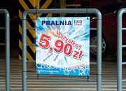 """Kampania promocyjna """"Wszystko 5,90"""", mały banner 60x60 - Pralnia EkoExpress"""