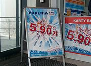 """Kampania promocyjna """"Wszystko 5,90"""", potykacz - Pralnia EkoExpress"""