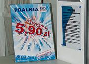 """Kampania promocyjna """"Wszystko 5,90"""", stojak A3 - Pralnia EkoExpress"""