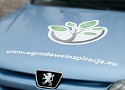 Ogrodowe Inspiracje - reklama na samochód