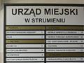 Tablica informacyjna - Strumień